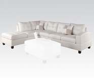 ACME Kiva 51180 WH LFA CHAISE SECT W/2PILLOWS (2CTN)