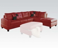 ACME Kiva 51185 RED RFA CHAISE SECT W/2PILLOWS (2CTN)