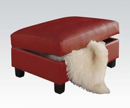ACME Kiva 51187 RED STORAGE OTTOMAN