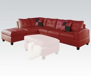 ACME Kiva 51190 RED LFA CHAISE SECT W/2PILLOWS (2CTN)
