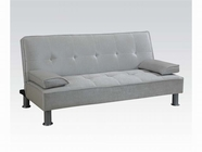ACME Korb 57068 SILVER WH PU ADJUSTABLE SOFA
