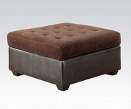 ACME Layce 50527 CHOCOLATE OTTOMAN W/STORAGE