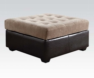 ACME Layce 50537 CAMEL OTTOMAN W/STORAGE (MORGAN FABRIC)