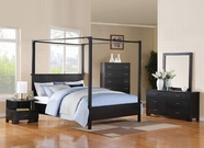 ACME London 20050Q-20064-20065 BLACK CANOPY BEDROOM SET