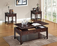 ACME Malachi 80254-80255 WALNUT OCCASIONAL TABLE SET