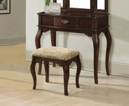 ACME Maren 90091 CHERRY VANITY AND STOOL