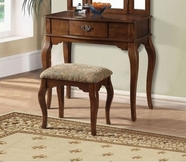 ACME Maren 90094 BROWN VANITY AND STOOL