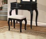ACME Maren 90097 BLACK VANITY AND STOOL