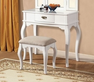 ACME Maren 90101 WHITE VANITY AND STOOL
