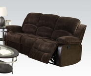ACME Masaccio 50470 DARK BROWN CHAMPION & PU SOFA W/MOTION