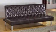 ACME Mawuli 57066 BROWN PU ADJUSTABLE SOFA