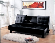 ACME Monticello 05574 BK PU ADJUSTABLE SOFA