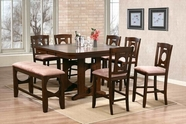 ACME Naldo 60250-60252 DARK WALNUT COUNTER HEIGHT TABLE SET