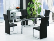 ACME Namazzi 70135-70137 BK GLASS TOP DINING TABLE SET