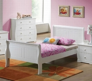ACME Nebo 30085T WHITE TWIN BED