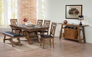 ACME Nevan 60235-60237 OAK DINING TABLE SET