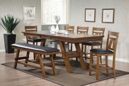 ACME Nevan 60240-60242 OAK COUNTER HEIGHT TABLE SET