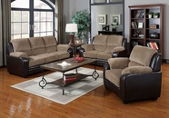 ACME Oisin 50450-50451 LIGHT BROWN CORDUROY & PU SOFA SET