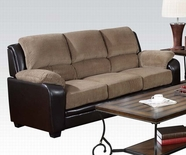 ACME Oisin 50450 LIGHT BROWN CORDUROY & PU SOFA
