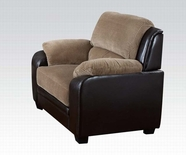 ACME Oisin 50452 LIGHT BROWN CORDUROY & PU CHAIR