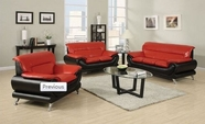 ACME Orel 50710-50455-50711-50455 BK/RED BL SOFA SET