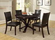 "ACME Osbert 70515-70517 48"" DIA ESPRESSO DINING TABLE SET"