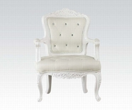 ACME Pascal 59130 WHITE FRAME ACCENT CHAIR (WHITE PU)