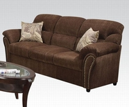 ACME Patricia 50130 DARK BROWN (S1) SOFA W/2 PILLOWS