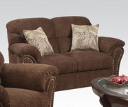 ACME Patricia 50131 DARK BROWN (S1) LOVESEAT W/2 PILLOWS