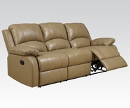 ACME Phelia 51160 2 TONE TOFFEE TOP GRAIN L M. MOTION SOFA