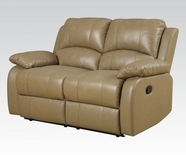 ACME Phelia 51161 2 TONE TOFFEE TOP GRAIN L M. MOTION LOVESEAT