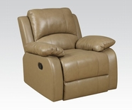 ACME Phelia 51162 2 TONE TOFFEE TOP GRAIN L M. ROCKER RECLINER