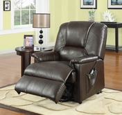 ACME Reseda10652 BROWN PU ELECTRIC LIFT CHAIR