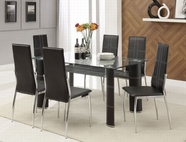 ACME Riggan 70200-70202 BK PU DINING TABLE SET