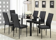 ACME Riggan 70595-70597 DINING TABLE SET W/BLACK TEMPER GLASS