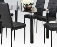 ACME Riggan 70595 DINING TABLE W/BLACK TEMPER GLASS