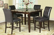 ACME Rolle 71075-71077 FAUX MARBLE COUNTER HEIGHT TABLE SET