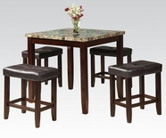 ACME Rolle 71090 5PC PK FAUX MARBLE COUNTER HEIGHT SET