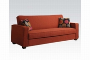 ACME Shani 57072 LINEN RED ADJUSTABLE SOFA W/2 PILLOWS