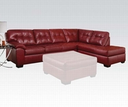 ACME Ski 50440 SOHO SECTIONAL BL CARDINAL (RIGHT FACING CHAISE)