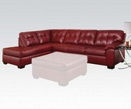 ACME Ski 50442 SOHO SECTIONAL BL CARDINAL (LEFT FACING CHAISE)