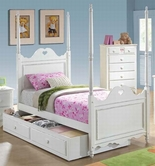 ACME Sweetheart 30170T-30174 WHITE TWIN BED WITH TRUNDLE