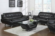 ACME Zahar 50135-50136 BLACK BONDED L SOFA SET