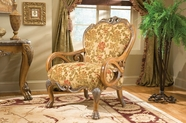 Aico 60834-SPICE-23 Eden Wood Trim Chair