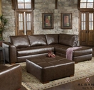 Albany 0275 Capri Dark Brown Sectional With Right Facing Chaise
