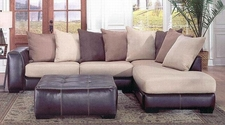Albany 0348 Laredo Mocha Sectional With Right Facing Chaise