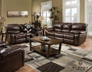 Albany P1750-01-28-GENS-55615 Power Leather Reclining Sofa Set