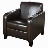 Armen Living 1400 BYCAST LEATHER CLUB CHAIR