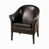 Armen Living 1404 BYCAST LEATHER CLUB CHAIR