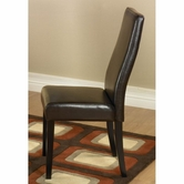 Armen Living 341 BYCAST LEATHER SIDE CHAIR (K/D)